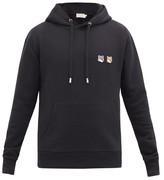 MAISON KITSUNÉ Double Fox Head-patch Hooded Sweatshirt - Mens - Black