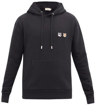 MAISON KITSUNÉ Double Fox Head-patch Hooded Sweatshirt - Black