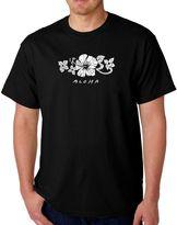 Men's Word Art Aloha T-Shirt in Black