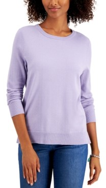 Style&Co. Style & Co Crewneck Sweater, Created for Macy's