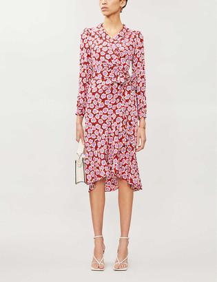 Diane von Furstenberg Carla floral-print crepe wrap dress