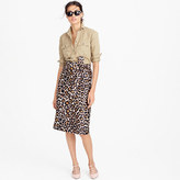 J.Crew Tie-waist skirt in leopard print