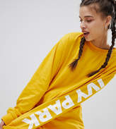Ivy Park Long Sleeve T-Shirt In Yellow