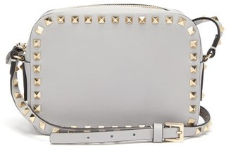 Valentino Rockstud Leather Cross-body Bag - Grey