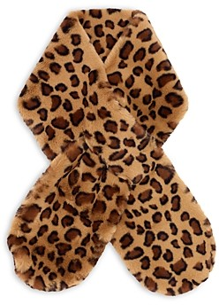 Echo Leopard Print Faux Fur Muffler - 100% Exclusive