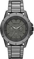 Claiborne Mens Gunmetal Chronograph Bracelet Watch