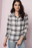 Garage Henley Plaid Shirt