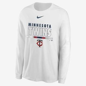 Nike Mens Long-Sleeve T-Shirt Color Bar (MLB Minnesota Twins)