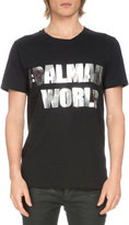 Balmain Short-Sleeve Hashtag Logo T-Shirt, Black/Gold