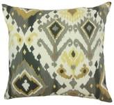 Qortni Ikat Cotton Throw Pillow Cover The Pillow Collection Color: Black Camel