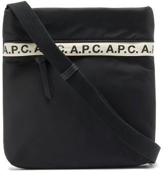 A.P.C. Repeat Logo-trim Padded-nylon Cross-body Bag - Black