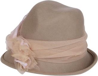 CA4LA Beige Wool Hat