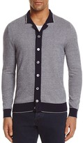 Eleventy Textured Tipped Cardigan Sweater