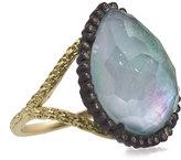 Armenta Old World Emerald Triplet Ring w/ Champagne Diamonds, Size 7