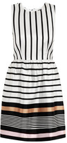 Raoul Border stripe silk dress