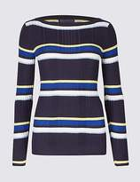 M&S Collection Stripe Ribbed Jumper