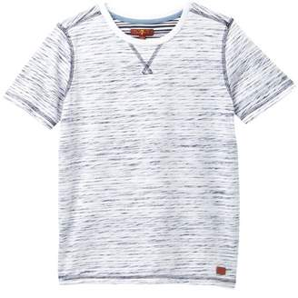 7 For All Mankind Burn Out Striped Tee (Big Boys)