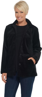 Denim & Co. Wide Wale Corduroy Barn Jacket