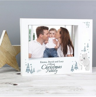 Personalised Our First Family Christmas Photo Frame