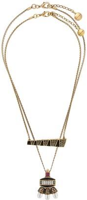 Camila Klein Enamelled Pearl Necklace