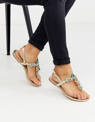 Lipsy pineappled jewelled sandals