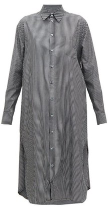 MM6 MAISON MARGIELA Striped Cotton-poplin Shirtdress - Womens - Black White