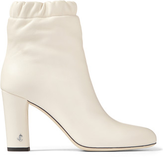 Jimmy Choo MARVA 85 Latte Soft Nappa Leather Ankle Bootie