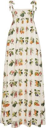 Agua Bendita Agua By Verbena Frutas Maxi Dress