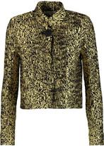 Oscar de la Renta Metallic matelass&eacute jacket