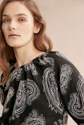 Country Road Print Linen Top