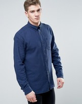 Jack and Jones Originals Long Sleeve Slim Fit Shirt in Gingham Check with Pocket