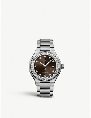 Hublot 568.NX.897M.NX.1204 Classic Fusion diamond and titanium watch