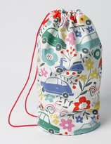 Boden Printed Drawstring Bag