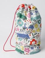 Printed Drawstring Bag Blooming Traffic Girls Boden