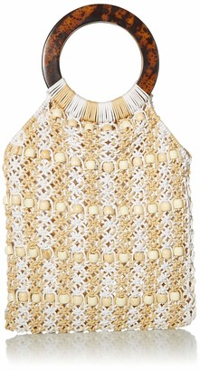 Seafolly Women's Beaded Crochet Bag with Tort Shell Handle