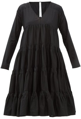 Merlette New York Rodas Tiered Pima-cotton Dress - Black
