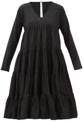 Merlette New York Rodas Tiered Pima-cotton Dress - Womens - Black
