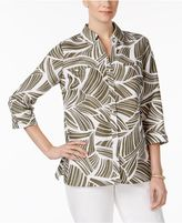 JM Collection Printed Hardware-Detail Shirt, Created for Macy's