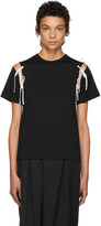 Facetasm Ssense Exclusive Black Tie Shoulder T-shirt