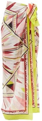 Emilio Pucci Abstract-print Cotton-gauze Sarong - Pink Multi