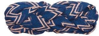 Missoni Plaited Zigzag Mesh Headband - Womens - Blue