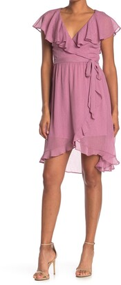 Kensie Chiffon Wrap Dress