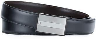Montblanc Men's Reversible Rectangle-Buckle Leather Belt