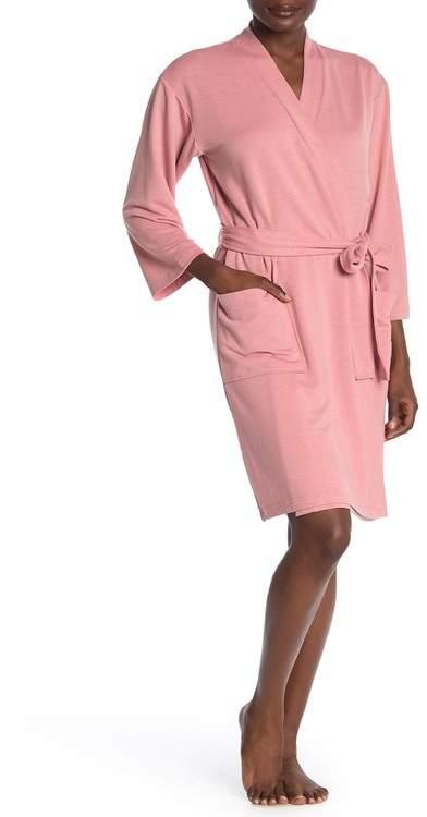 Natori N Solid Long Sleeve Robe