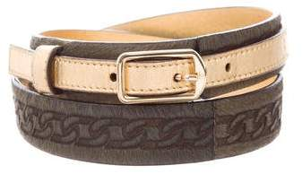 Chanel Ponyhair Waist Belt