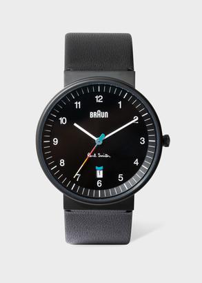 Paul Smith + Braun Black Leather Strap Quartz Watch