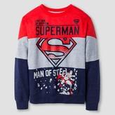 Superman Boys' Long Sleeve Fleece Pullover - Heather Grey