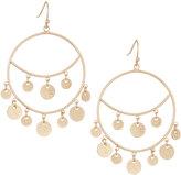 Panacea Golden Disk Hoop-Drop Earrings
