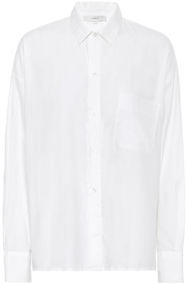 Vince Cotton-blend poplin shirt