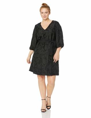 Junarose Women's Plus Size Maddin Three Quarter Sleeve Above Knee Dress